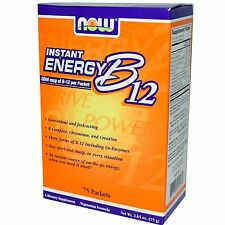 Now Foods, Instant Energy B12, 2000 mcg, 75 Packets