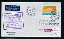 95505) LH FF Hannover - Kopenhagen 1.4.71, Brief ab Monaco, CEPT, selten