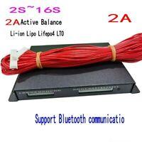 2S ~ 16S 2A Active Balancer Li-ion Lipo Lifepo4 LTO Battery Equalizer BMS APP JK