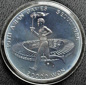 10th Asian Games - 1986 South Korea 20,000 Won Silver