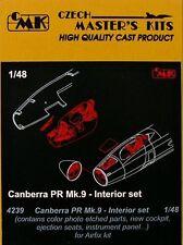 CMK 1/48 CANBERRA PR Mk. 9 Interior Set per Arifix # 4239
