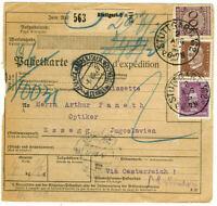 Germany Paketkarte Germany to Yugoslavia (1926) ~See Scans~