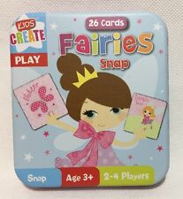 Fairies Snap Cards in Tin - Children's Fairies Matching Pairs Game 26 Cards