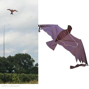Brown 3D hawk Kite kits. Bird Scarer Protect Farmers Crops. With A Free Line