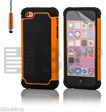 NEW STYLISH SHOCK PROOF SERIES CASE COVER FOR IPHONE 5C FREE SCREEN PROTECTOR