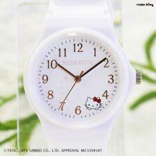 Sanrio Hello Kitty Wrist Watch Analog Rubber White KT003 Japan