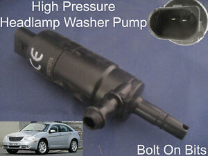 Headlamp/Headlight Spray Cleaning Washer Pump Chrysler Sebring 2007 to 2010