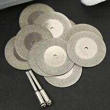 10PC 35mm Mini Diamond Coated Cutting OFF Discs Rotary Tool For Grinder Drill