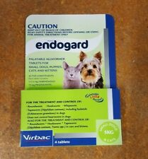 Virbac Endogard Allwormer for Small Dogs & Cats up to 5kg - 4 Tablets