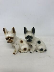 Vintage Salt And Pepper Shakers Dogs Pit Bulls Cute MCM