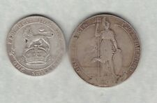 More details for 1910 edward vii silver florin & 1910 silver shilling in used to fine condition