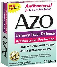 AZO Urinary Tract Defense Tablets, Antibacterial Protection 24 ea (Pack of 2)