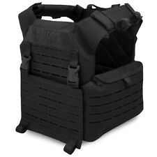 Bulldog Kinetic MOLLE Military Army Tactical Airsoft Armour Plate Carrier Black