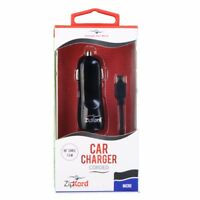 ZipKord 2.1A Coiled Car Charger with Micro USB Connector - Black