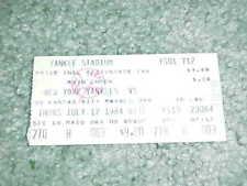 1984 New York Yankees v Kansas City Royals Baseball Ticket Phil Niekro Win