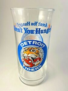 Detroit Tigers Burger King Vintage Glass Aren't You Hungry Cleveland Indians