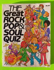 The Great Rock Pop & Soul Quiz, 1960s 1970s Vintage Original Book