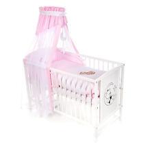 Babybett Kinderbett Bär mit Schleife 120x60 Bettset Matratze Design B5 Neu