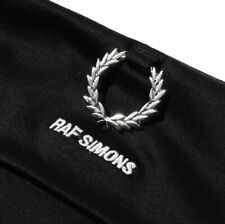 FRED PERRY X RAF SIMONS MEN'S BLACK LONG SLEEVE ROLLNECK T-SHIRT