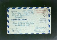 Germany 1950 60Pf Taxe Percue Letter Cover to USA (IV) - Z2475