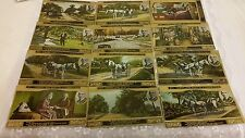Vintage Postcards Lover's Lane, Saint Jo, by Eugene Field Full set of 12
