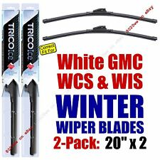 WINTER Wiper Blades 2pk Premium fit 1991 White GMC WCS WIS - 35200x2