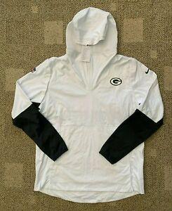 NFL Green Bay Packers Mens Nike Zonal Aeroshield Pregame Jacket White Large