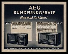 Alte Reklame 1938 AEG 28 + 78 Zweikreis-Vierröhren Siebenkreis-Sechsröhren-Super