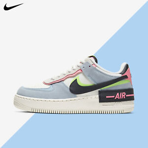 Nike Women's Air Force 1 Low Shadow Sail Black Sunset Pulse Blue 2021 CU8591-101
