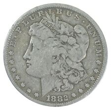 Early 1882 Morgan Silver Dollar - 90% US Coin *386