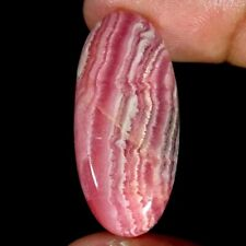 37.60Cts Natural Pink Rhodochrosite Oval Cabochon Loose Gemstone