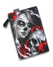 Liquor Brand Eternal Bliss Skull Wash Bag Cosmetic Make Up Pencil Case Tattoo