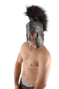 Spartan Helmet Dark Gold Faux Leather Ancient Greek Military Costume Helmet