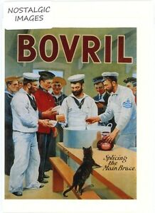 Nostalgic 'BOVRIL' hand made greeting card. blank inside for all occasions. 1110