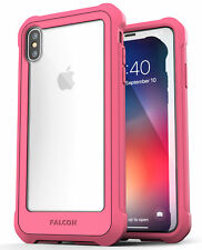 iPhone XS Max Clear Protective Case Cover, Full Body Transparent (Falcon) Pink