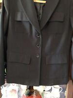 Calvin Klein Women's Stretch Black 3 Button Suit Jacket Blazer~Size 6