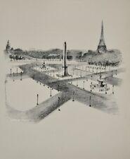 Robert DELAUNAY - lithographie originale - Paris, la place de la Concorde