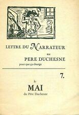 Lettre du Narrateur au Père Duchesne pour que ca change. Mai-Juin 1978, No 7