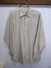 EUC! John W. Nordstrom Dress Shirt 100% cotton light gray off-white sz 16-36