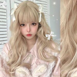 Japanese Lolita Cosplay Women's Princess Curly Hair Sweet Harajuku Daily Wig
