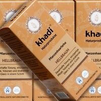 Khadi Pflanzenhaarfarbe Hellbraun 100g Naturkosmetik zertifiziert vegan bio