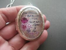 (LOCKET) ROSE FLOWER THE MEMORIES THIS WILL HOLD WILL LAST A LIFETIME OF LOVE