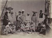 Egitto Cairo Foto Albumina Stampa Verso 1890 IN Piccolo Dimensione