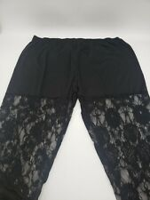 Women's Black Lace semi-see Through Pants Size Xl