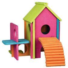 Maison en bois multicolore pour rongeurs, hamsters, souris, gerbilles... TRIXIE