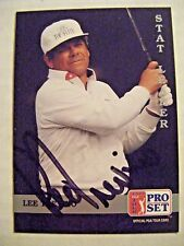 LEE TREVINO signed 1992 Pro Set golf card AUTO Autographed #271 Stat Leader PGA