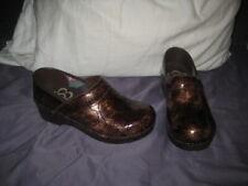 Sanita Clogs Patent Leather Professional Rubber Soles, Women's 36, US 5.5-6  EUC