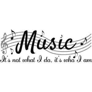 Wall Stickers Music Themed Home Decor - It's Not What I Do, It's Who I am