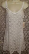 In Bloom/Jonquil Sexy Stretch Lace Chemise/Nightgown Sleeveless Strap S Ivory