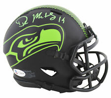 Seahawks D.K. Metcalf Authentic Signed Eclipse Speed Mini Helmet BAS Witnessed